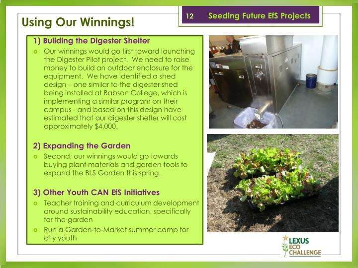 Seeding Future EfS Projects
