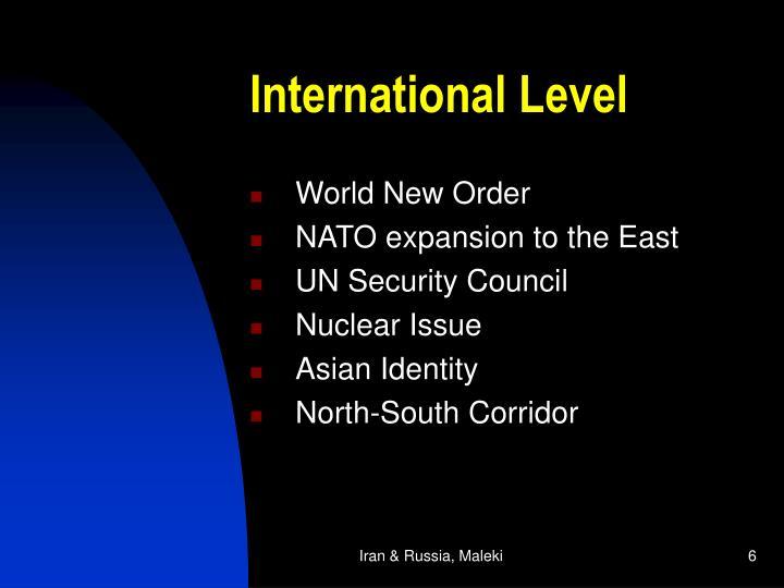 International Level