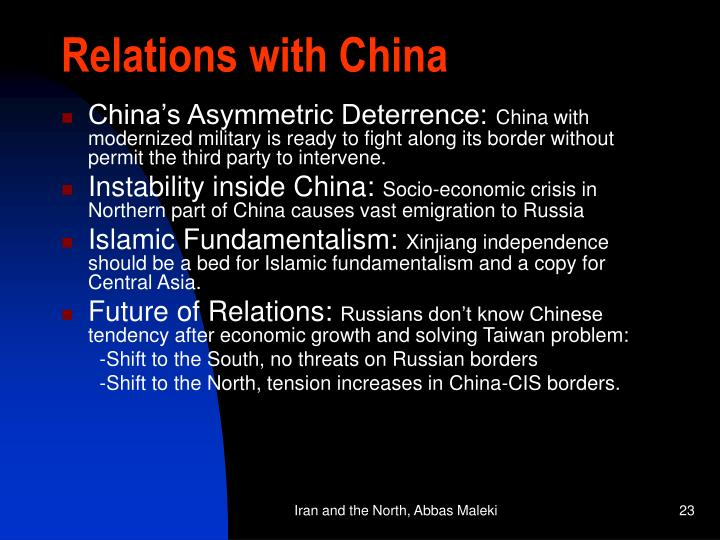 Relations with China