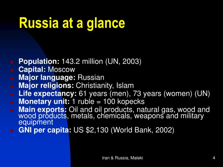 Russia at a glance