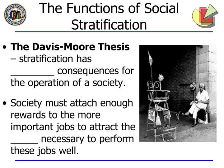 davis moore thesis social stratification Author(s): kingsley davis and wilbert e moore source:  varieties of social  inequality and the variable  approach to the theory of social stratification,.