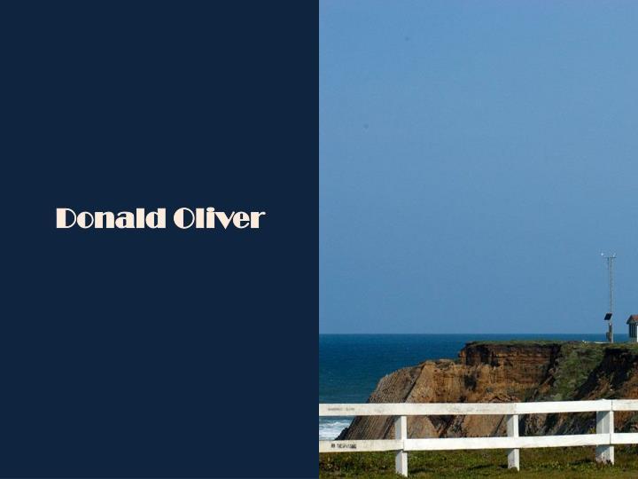 Donald Oliver