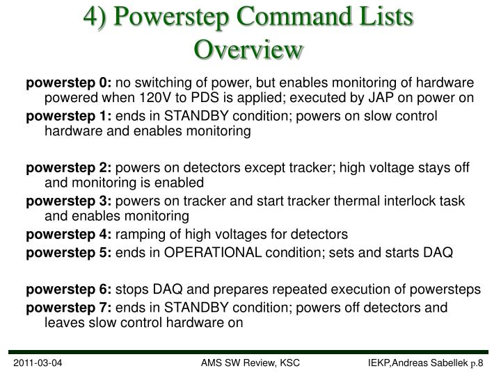 4) Powerstep Command Lists Overview