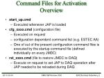 command files for activation overview