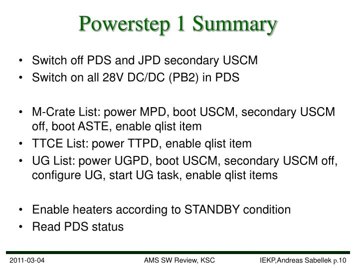 Powerstep 1 Summary