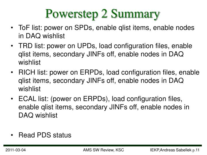 Powerstep 2 Summary