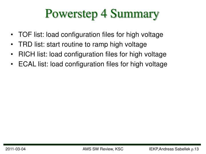 Powerstep 4 Summary