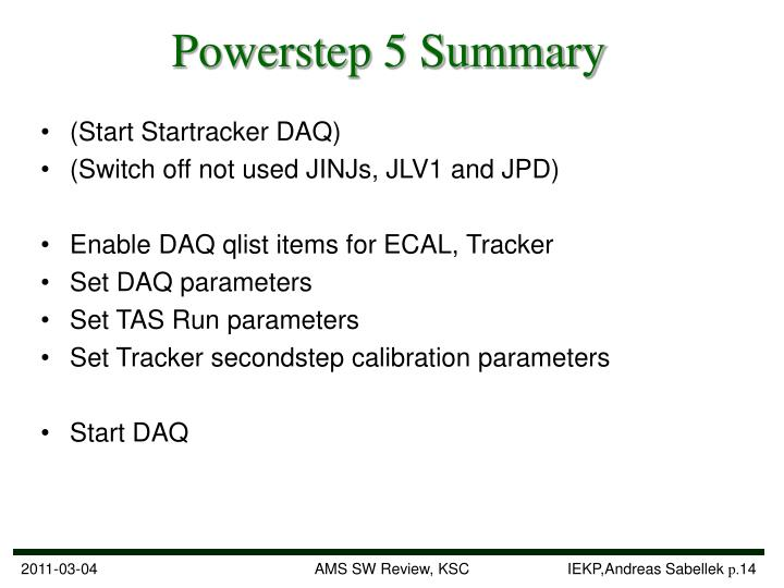 Powerstep 5 Summary