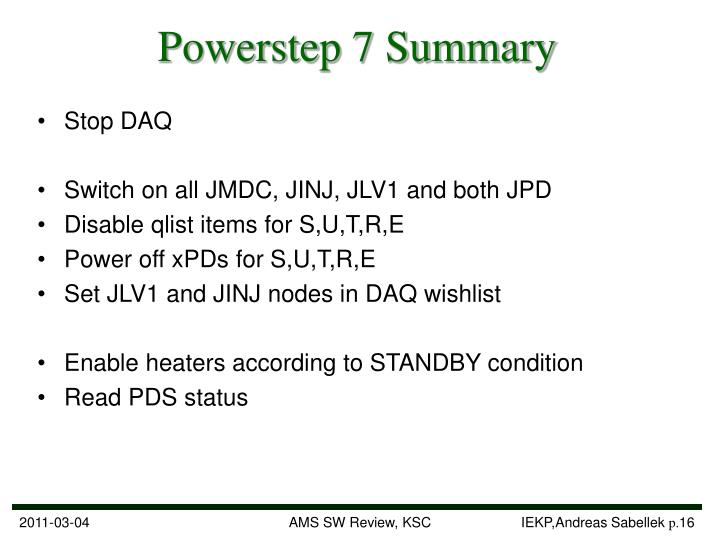 Powerstep 7 Summary