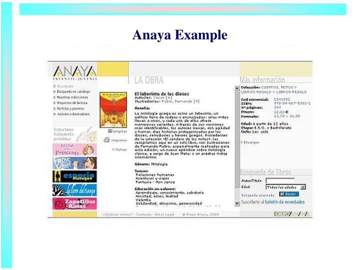 Anaya Example