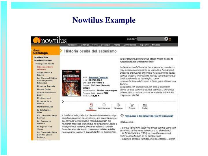 Nowtilus Example