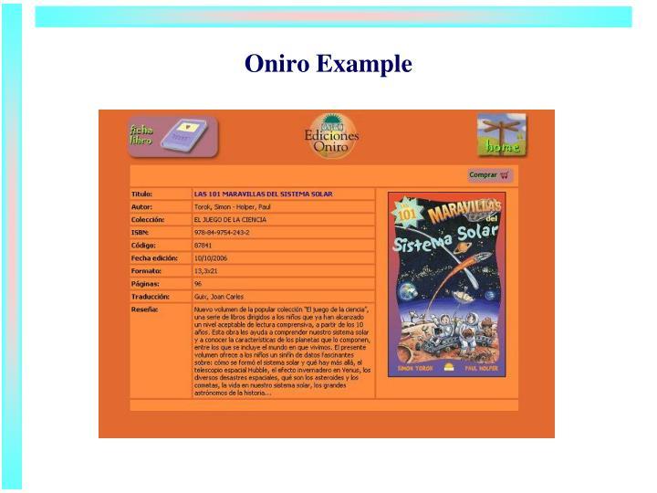 Oniro Example
