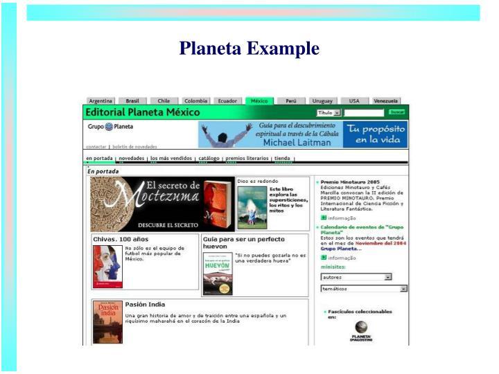 Planeta Example