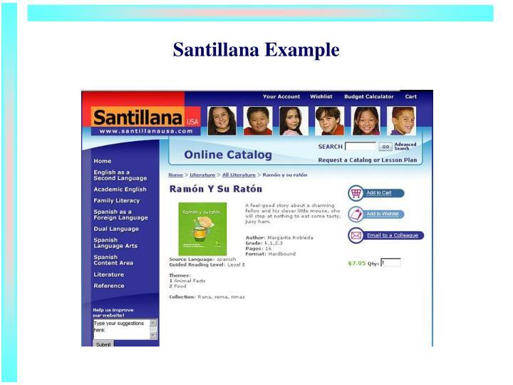Santillana Example