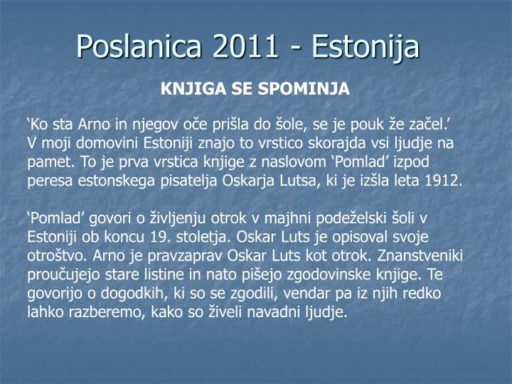Poslanica 2011 - Estonija