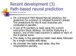 recent development 3 path based neural prediction by daniel a jimennez