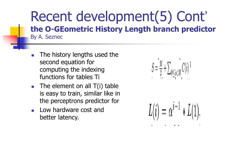 Recent development(5) Cont