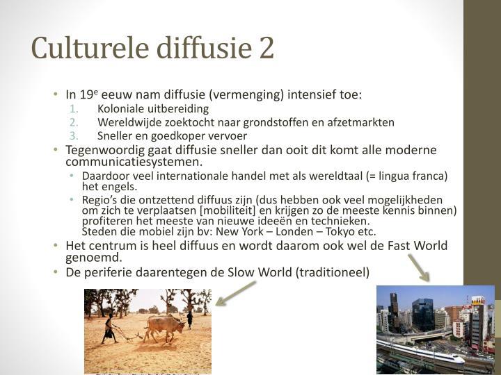 Culturele diffusie 2