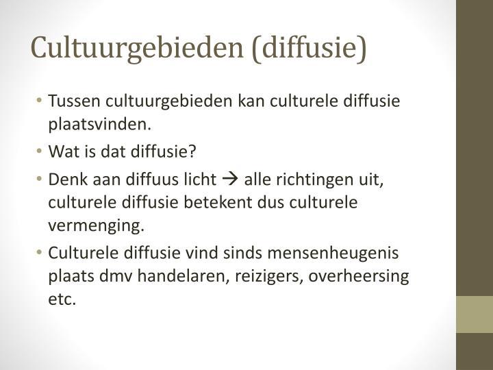 Cultuurgebieden (diffusie)