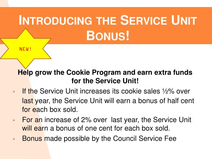 Introducing the Service Unit Bonus!