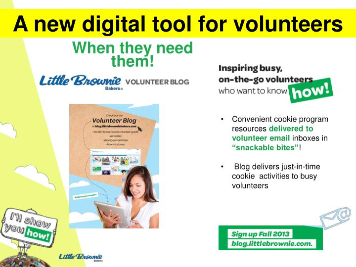 A new digital tool for volunteers