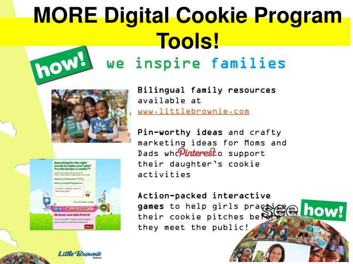 MORE Digital Cookie Program Tools!