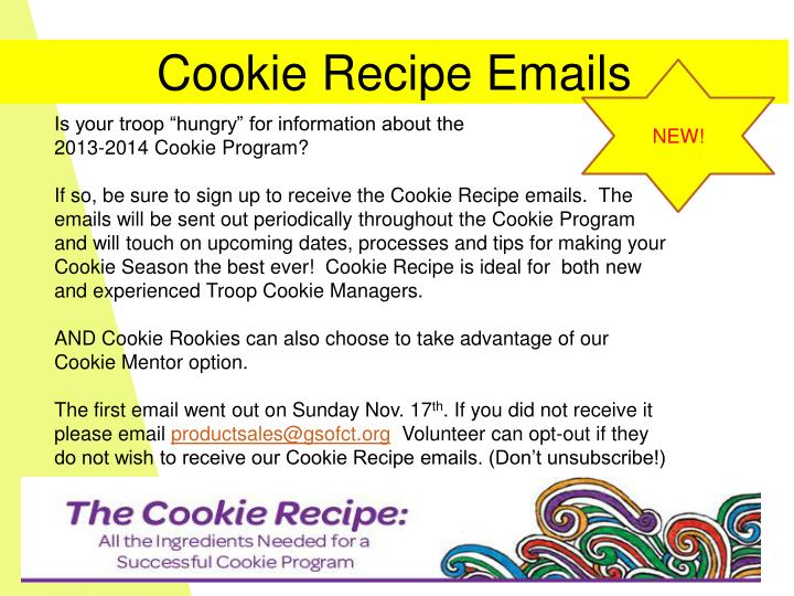 Cookie Recipe Emails