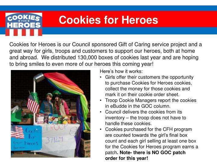 Cookies for Heroes