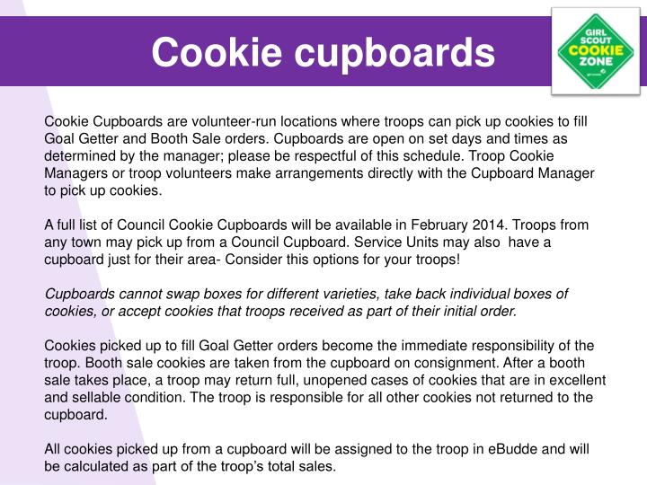 Cookie cupboards