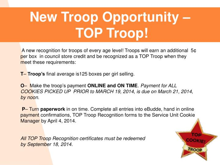 New Troop Opportunity –