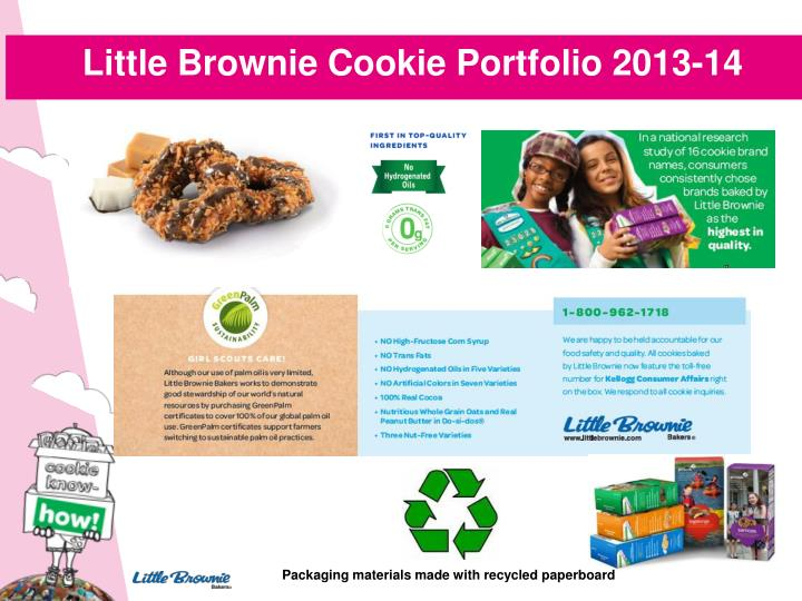 Little Brownie Cookie Portfolio 2013-14