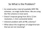 so what is the problem