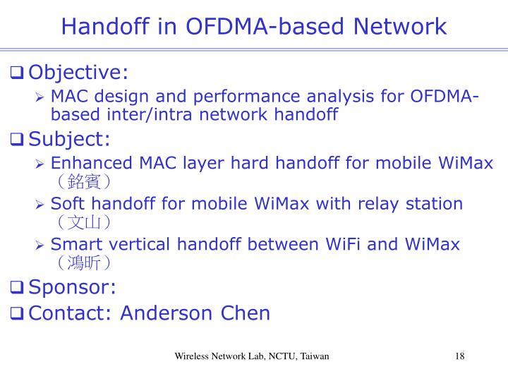 Handoff in OFDMA-based Network