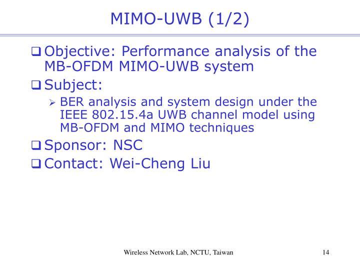 MIMO-UWB (1/2)