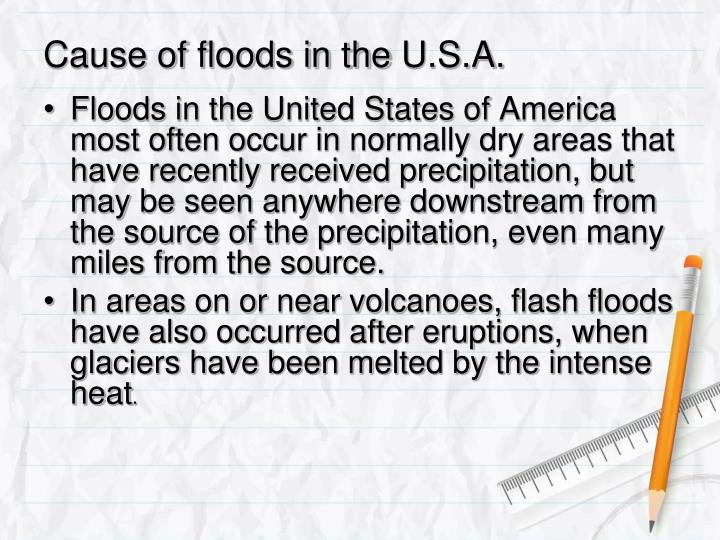 Cause of floods in the u s a1