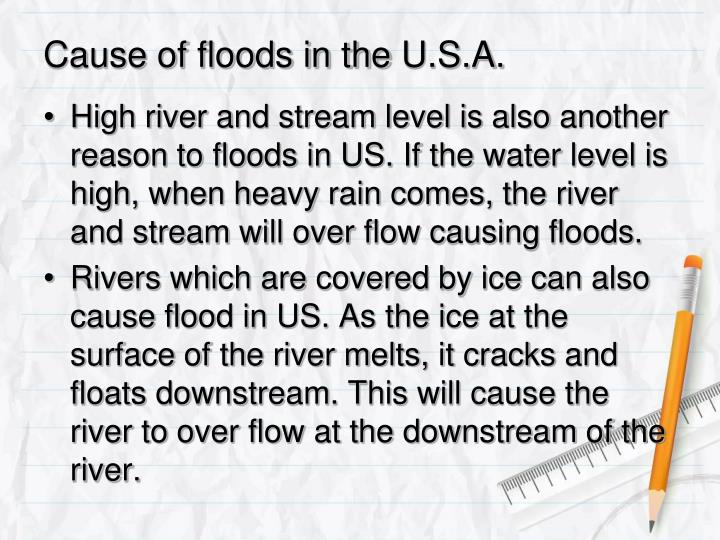 Cause of floods in the