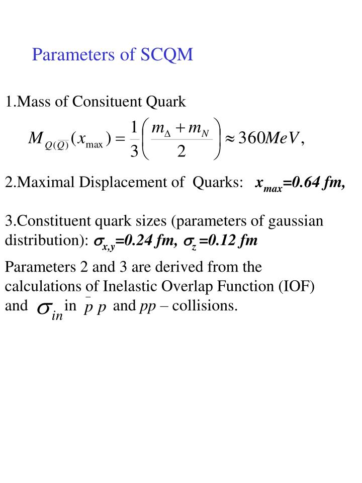 1.Mass of Consituent Quark