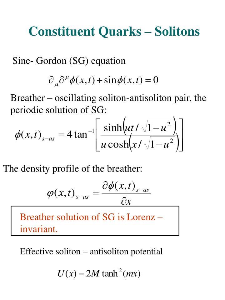 Constituent Quarks – Solitons