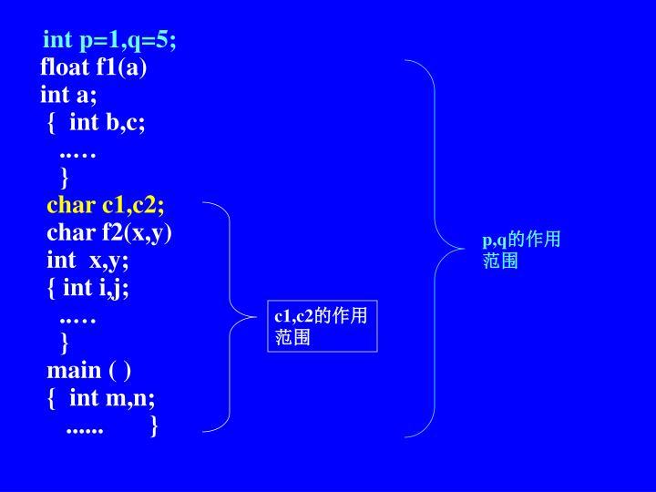 int p=1,q=5;