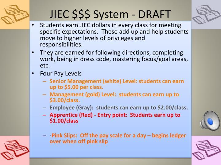 JIEC $$$ System - DRAFT