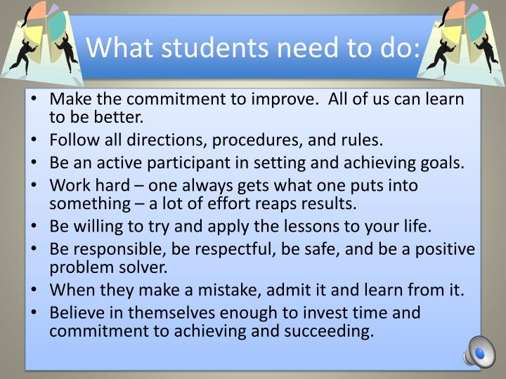 What students need to do: