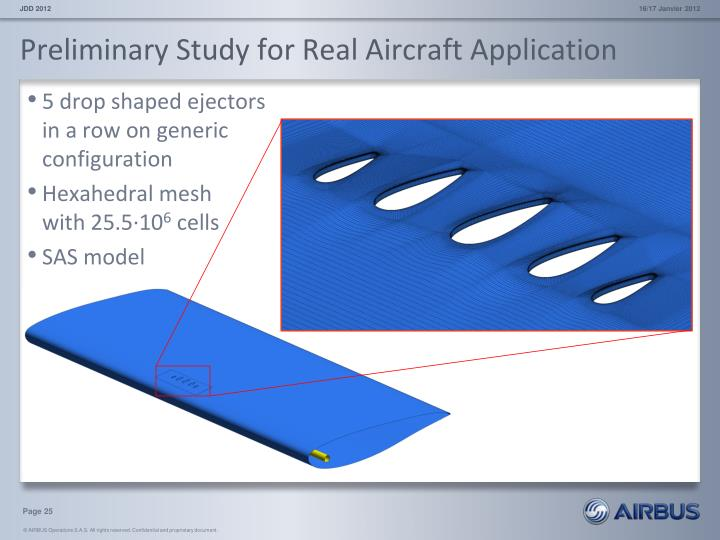 Preliminary Study for Real Aircraft Application