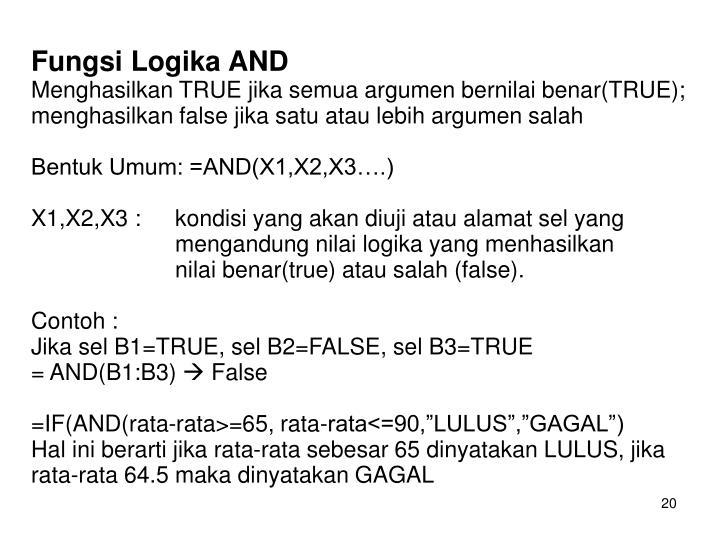 Fungsi Logika AND
