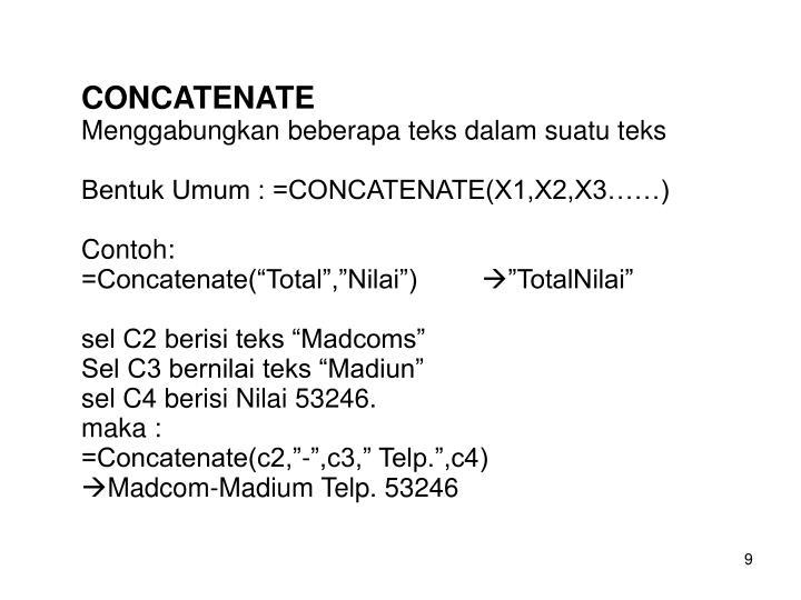 CONCATENATE
