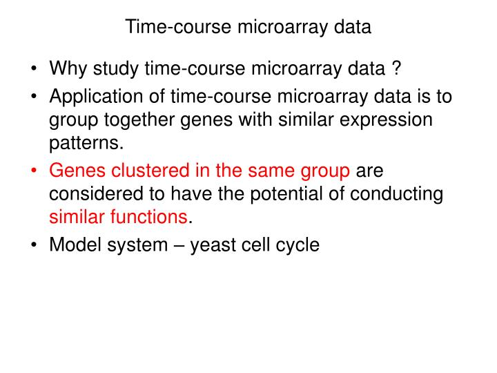 Time-course microarray data