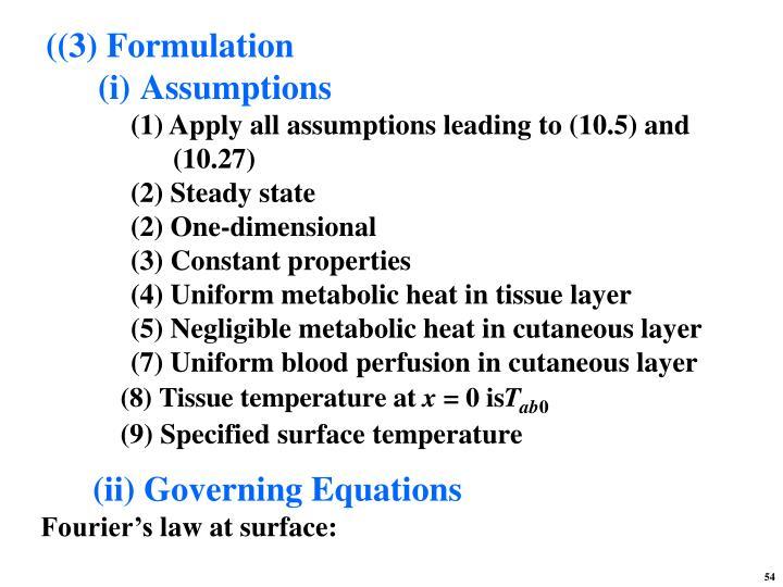 ((3) Formulation