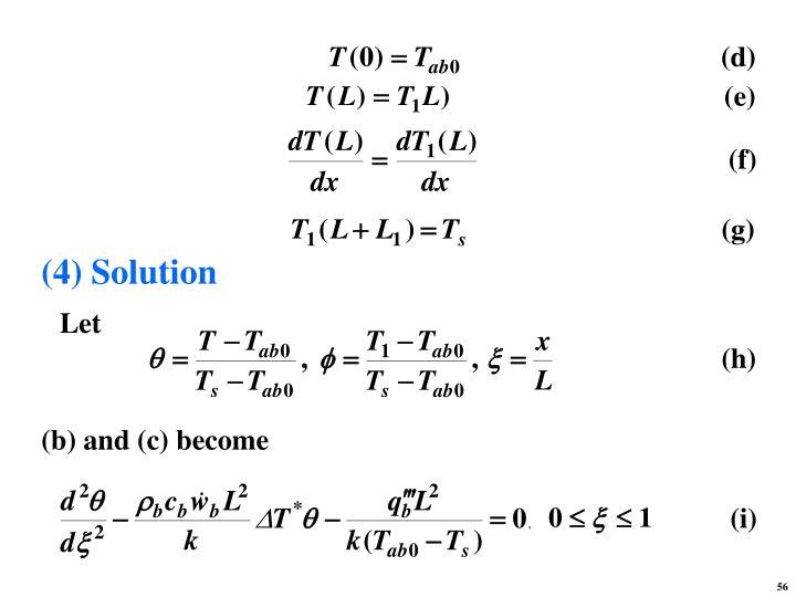 (4) Solution