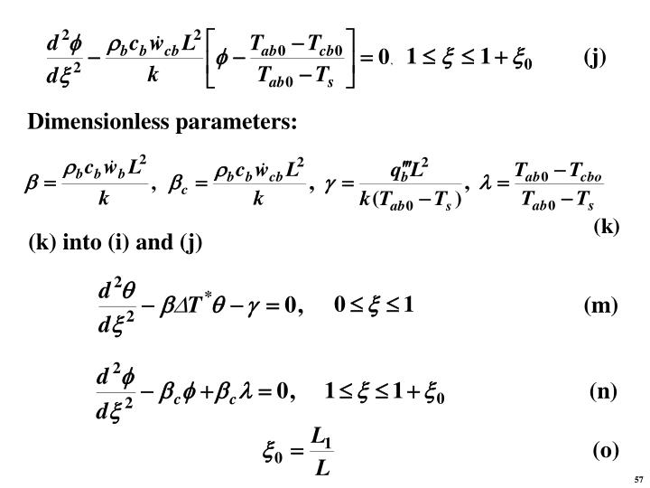 Dimensionless parameters: