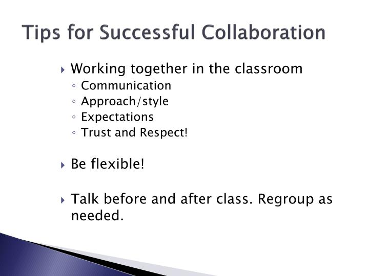 Tips for Successful Collaboration