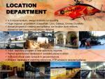 location department